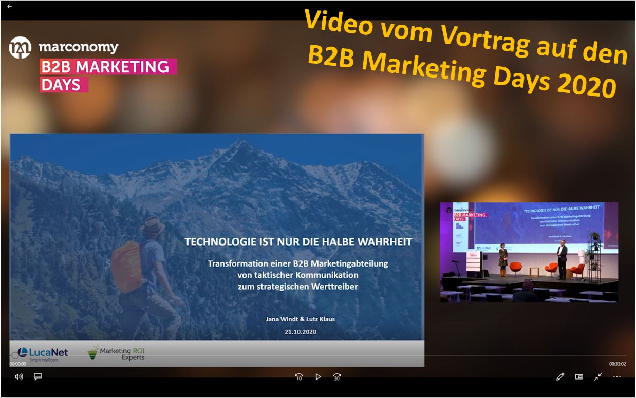 Video vom Vortrag auf den B2B Marketing Days 2020